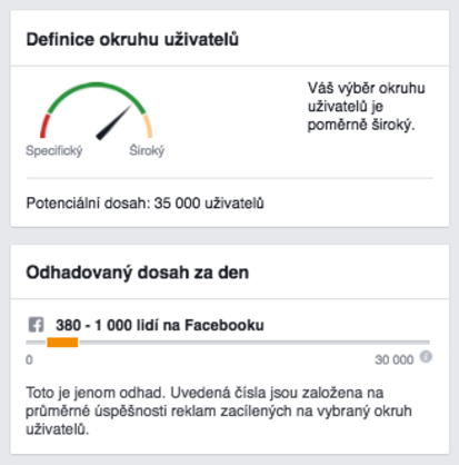 Facebook a optimalizované metriky